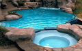 Pool With Built-in Jacuzzi