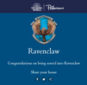 Pottermore - my house