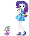 Rarity and Spike Singing - random fan art