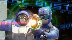 Ravi Morphed As The Beast Morphers Blue Ranger