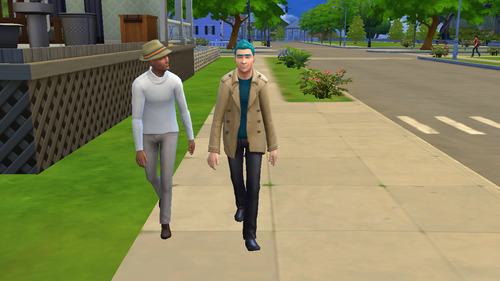 Rick and Morty 바탕화면 called Rick in the Sims