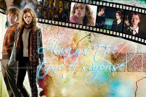 Ron/Hermione Wallpaper - Always The Tone Of Surprise