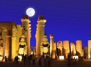 SUPER SNOW MOON IN EGYPT