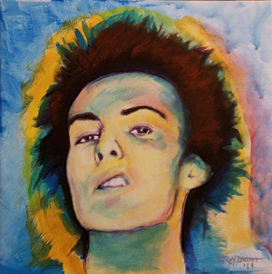 Sid Vicious Acrylic Painting