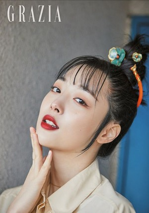 Sulli for GRAZIA Korea Magazine March Issue 2019