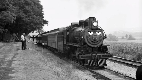 Thomas the Tank Engine Hintergrund entitled Tabby in Black and White