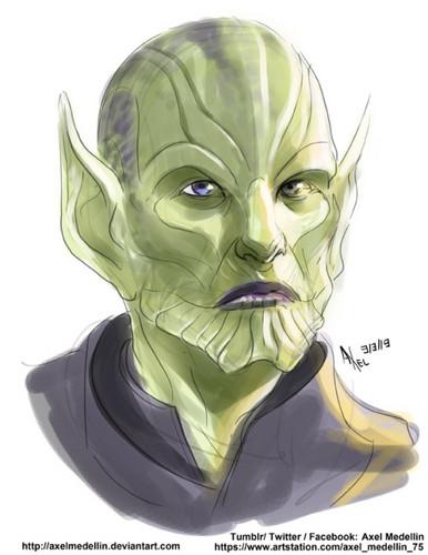 Marvel's Captain Marvel fond d'écran entitled Talos Art