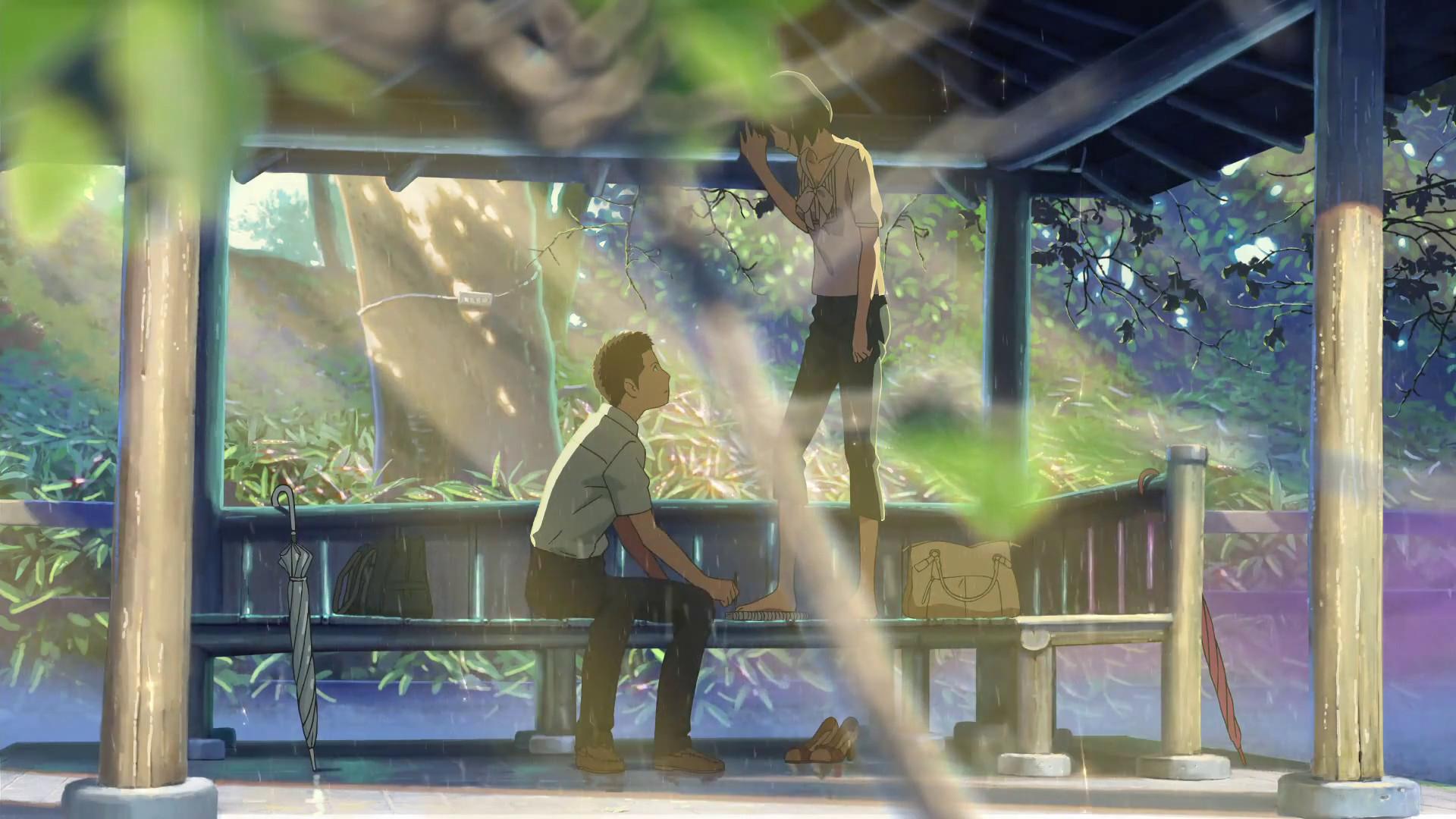The Garden Of Words Makoto Shinkai Fond D Ecran 42699870 Fanpop