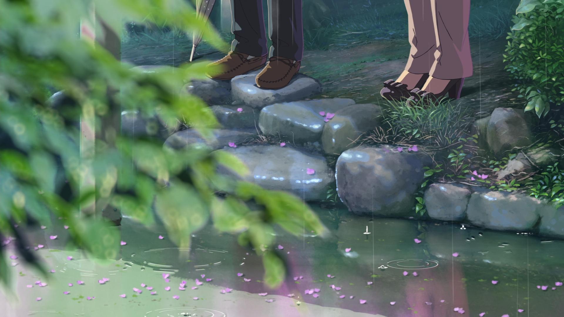 The Garden Of Words Makoto Shinkai Wallpaper 42699926 Fanpop