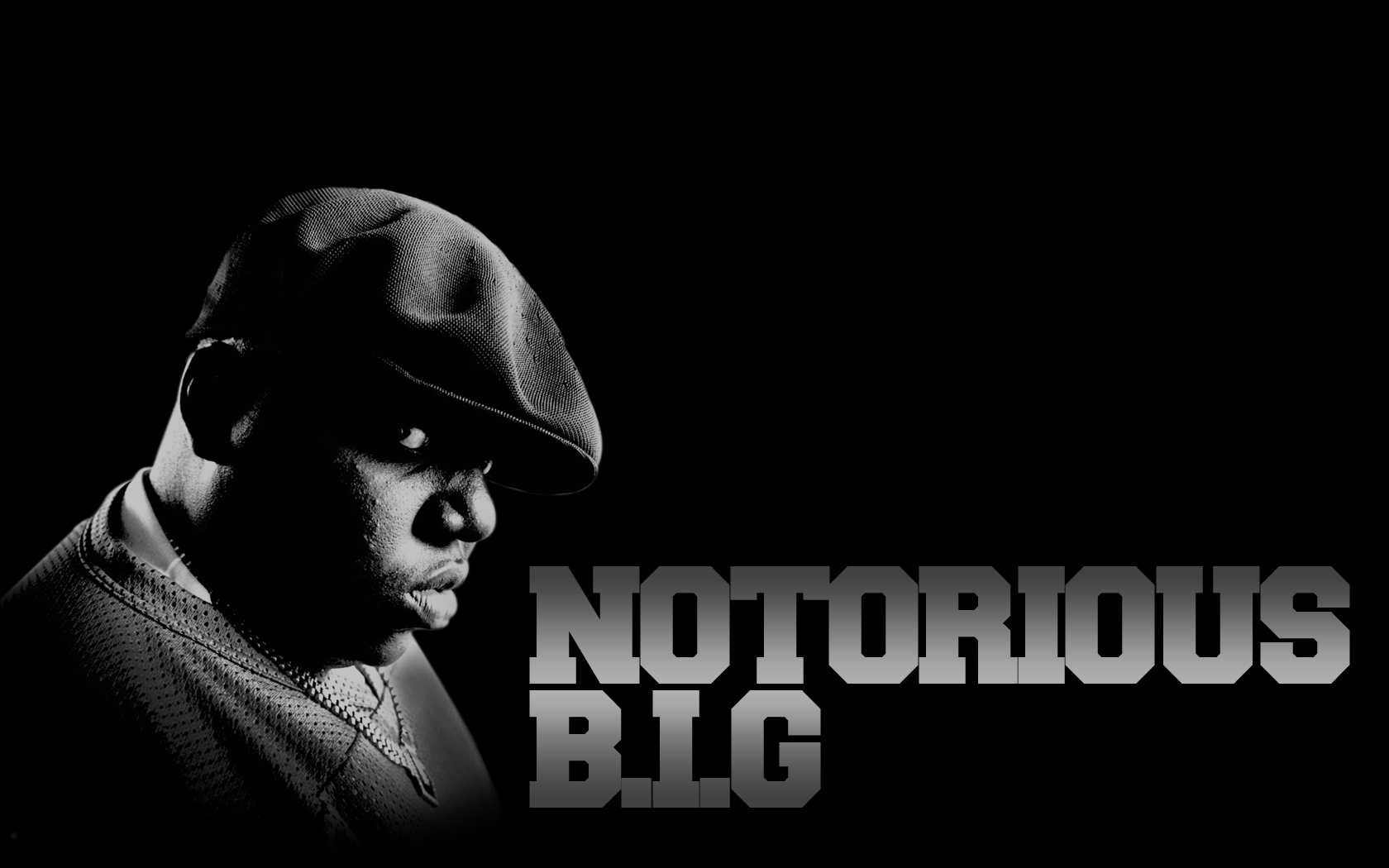 The Notorious B I G Black And White Wallpaper The