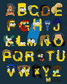 The Simpsons Alphabet - the-simpsons fan art