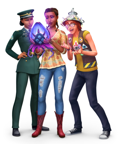 Sims 4 fondo de pantalla titled The Sims 4: StrangerVille Render