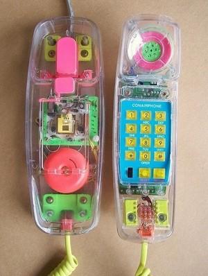 Transparent Neon Telephone
