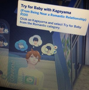 Try for baby with Kageyama Sims
