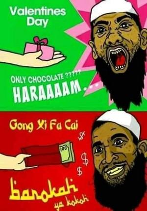 VALENTINE HARAM GONG XI FAT CAI BAROKAH