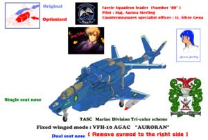 VFH-10G (Dual seat) AGAC Auroran (remove gunpod)
