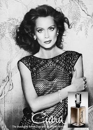 Vintage Promo Ad 시애라 Perfume