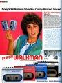 Vintage Promo Ad Super Sony Walkman