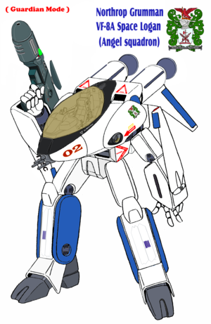 White blue VF-8A Space Logan (Guardian mode )