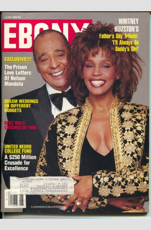 Whitney Houston And Her Father On The Cover Of Ebony