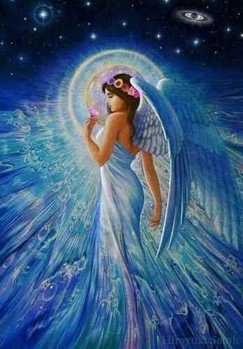 Lavendergolden Hintergrund entitled beautiful Engel for ma sweet violet🌹💖