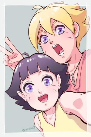 boruto and himawari