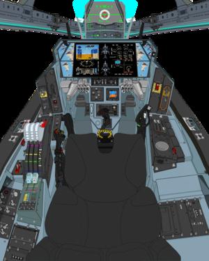 (A.D. 2036 , Block 03 with bullet proof grass) VFH-10C Auroran AGAC cockpit