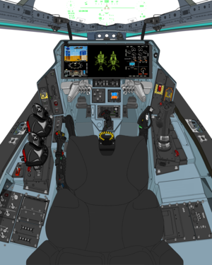 (A.D. 2067, Block 45A with OLD twin throttle ) VFH-10G AGAC cockpit