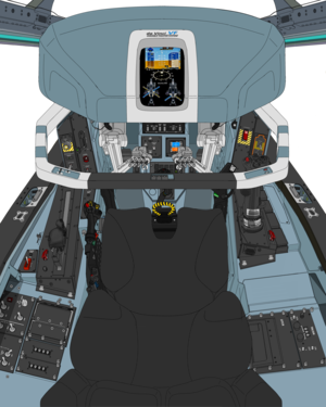 (A.D. 2072 ) Block 50 , based on block 45C VFH-10 Auroran VR cockpit