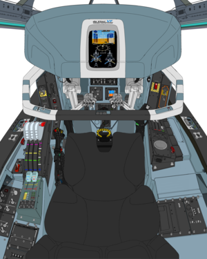 (AD 2072 , Block 50 , based on block 03 ) VFH-10H Auroran AGAC cockpit