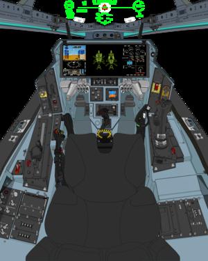 ( Block 45C in A. D. 2067 ) VFH-10 Auroran AGAC cockpit