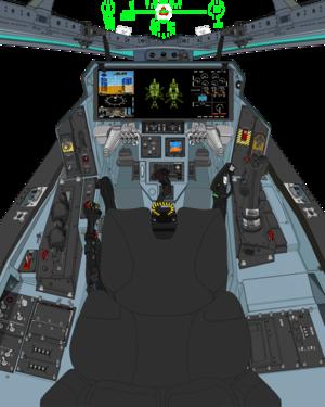 ( Block 45B in A. D. 2067 ) VFH-10 Auroran AGAC cockpit