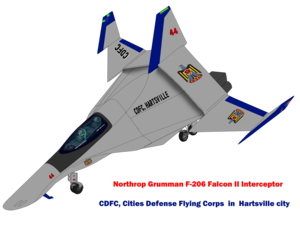 (Dual seat) F-206 Falcon II Interceptor