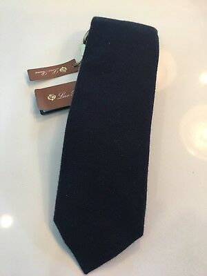 Loro Piana Baby Cashmere Midnight Blue Tie
