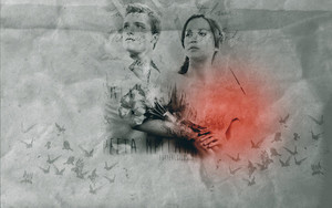 Peeta/Katniss wallpaper