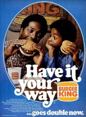 Vintage Promo Ad For Burger King