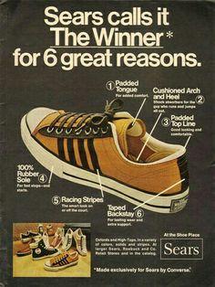 Vintage Promo Ad For コンバース All Stars