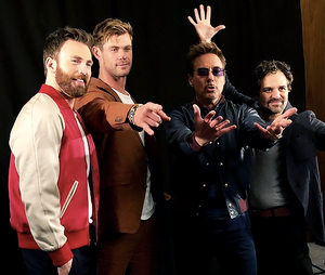 @markruffalo: The boys are back in town (The cast of Avengers Endgame press junket April 6, 2019)