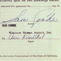 Contract Signed By Sam Cooke