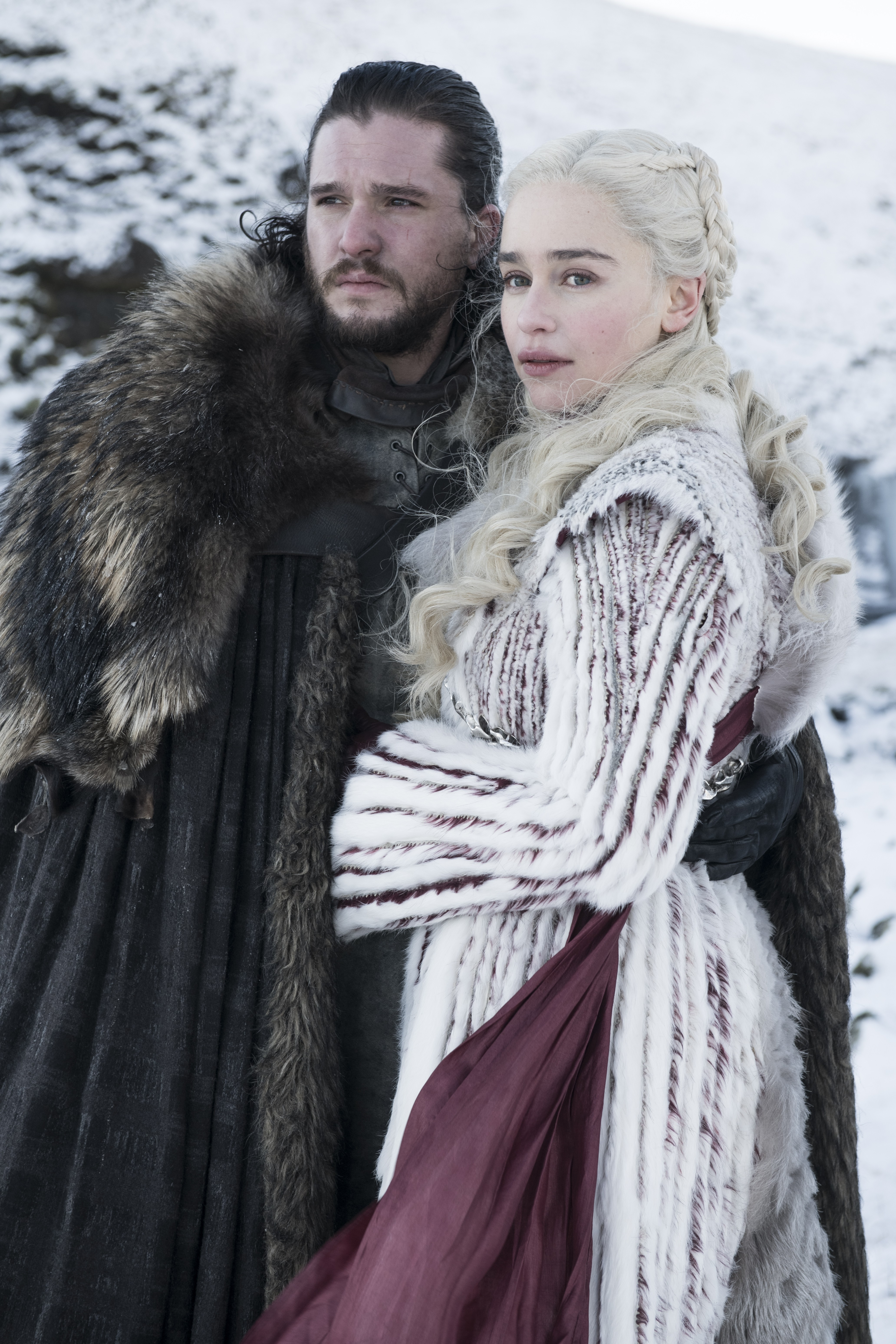 8x01 ~ Winterfell ~ Aegon and Daenerys