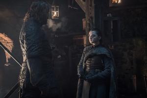 8x01 ~ Winterfell ~ Arya and Sandor