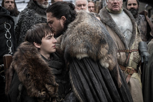 8x01 ~ Winterfell ~ Bran and Aegon