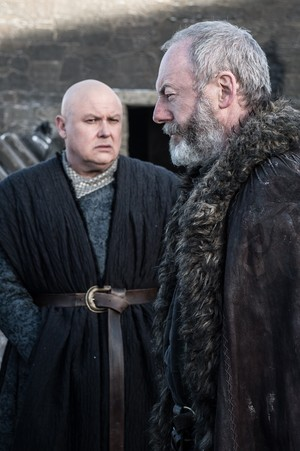 8x01 ~ Winterfell ~ Davos and Varys