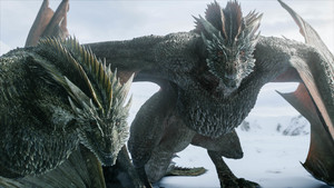 8x01 ~ Winterfell ~ Drogon and Rhaegal