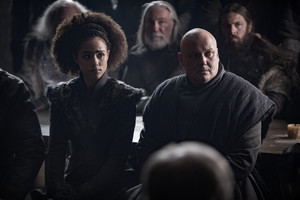 8x01 ~ Winterfell ~ Missandei and Varys