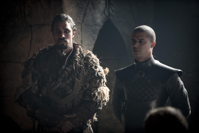 8x01 ~ Winterfell ~ Qhono and Grey Worm