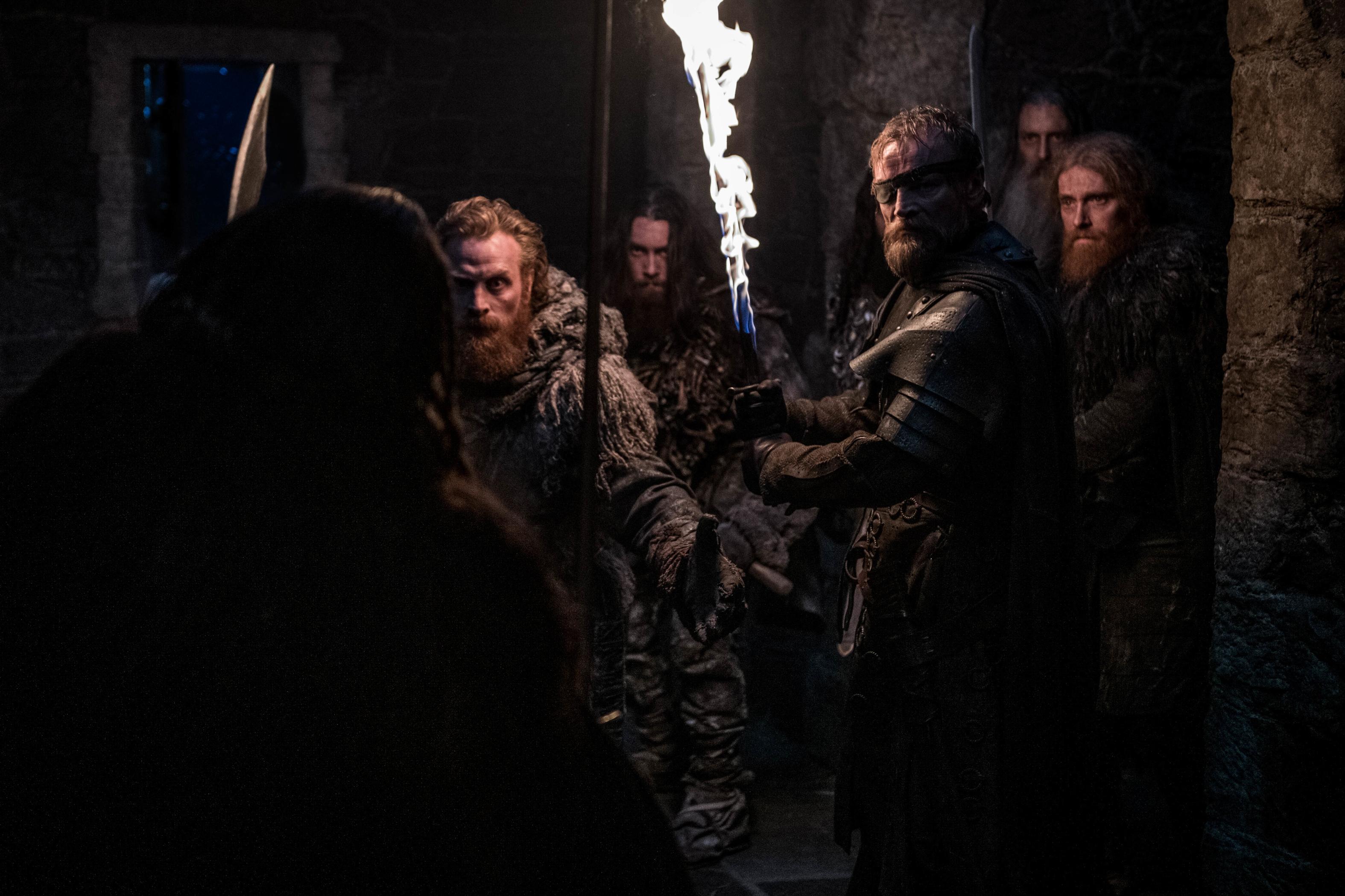 8x01 ~ Winterfell ~ Tormund and Beric