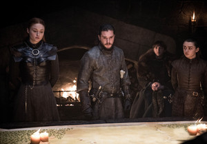 8x02 ~ A Knight of the Seven Kingdoms ~ Sansa, Aegon, Arya and Bran