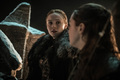 8x03 - The Long Night - Sansa and Arya - game-of-thrones photo