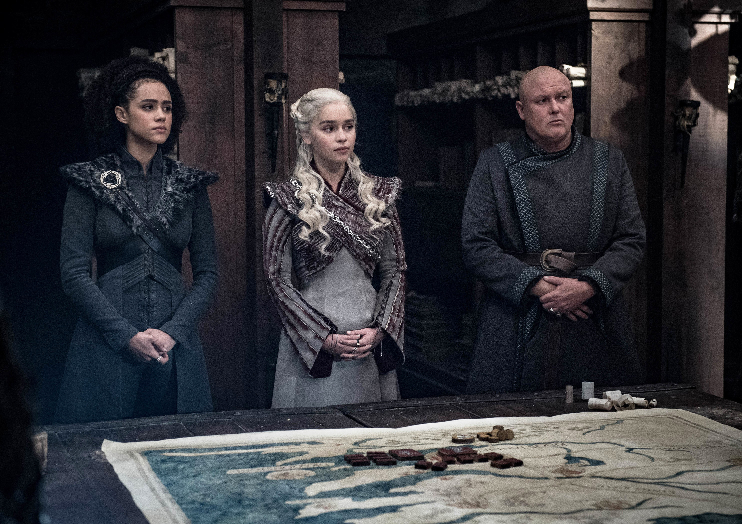 8x04 - The Last of the Starks - Missandei, Daenerys and Varys